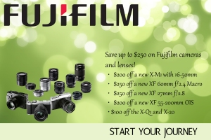 Big savings on Fujifilm X-Series cameras and lenses!