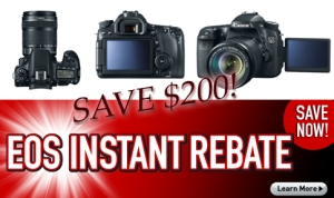 Save $200 on all configurations of the EOS 70D!