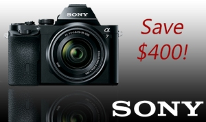 Holy smokes! Save $400 on the Sony A7 full frame camera body or kit!