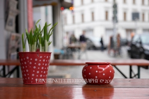 Cafe Patio in East Berlin, Germany 2015