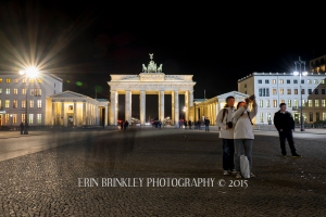 Tourists at the Brandenburger Tor; Berlin, Germany 2015