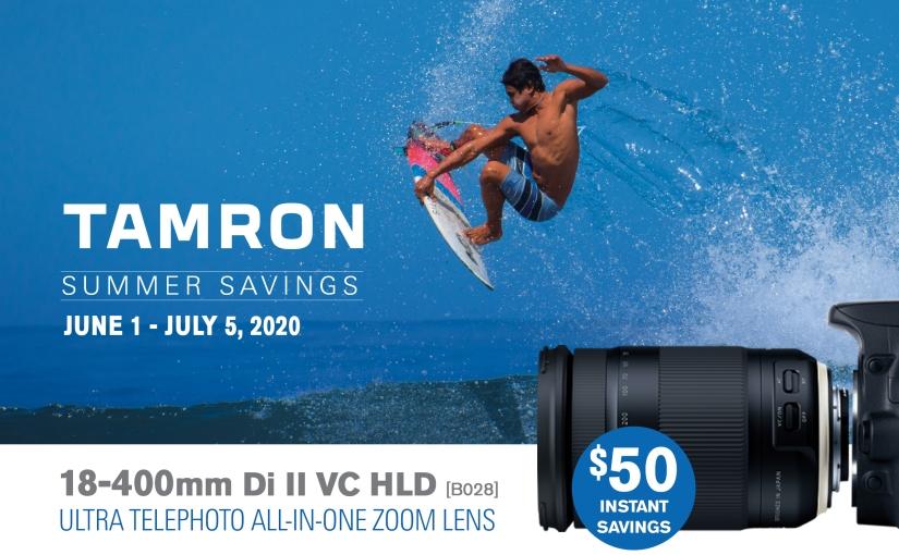 Tamron summer savings!